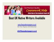 Get Best Coursework Writing Services from Expert Writers