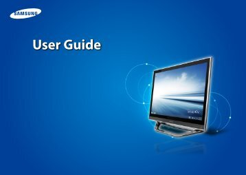 "Samsung ATIV One 7 (27.0"" Full HD Touch / Core™ i7) - DP700A7D-X01US - User Manual (Windows8.1) (ENGLISH)"
