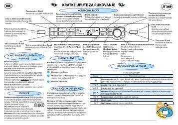 KitchenAid JT 369 BL - Microwave - JT 369 BL - Microwave HR (858736999490) Guide de consultation rapide
