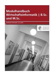 Modulhandbuch Wirtschaftsinformatik | B.Sc. und M.Sc.