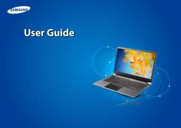 "Samsung Series 9 15"" Notebook - NP900X4D-A05US - User Manual (Windows 8) (ENGLISH)"