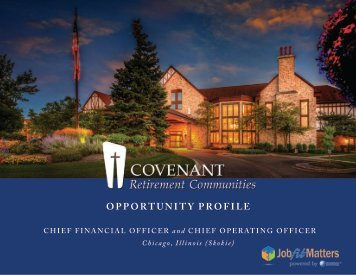 Covenant Retirement Communities CFO and CEO Search Opportunity Profile