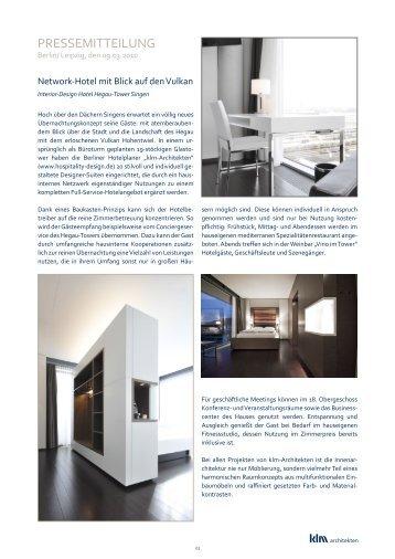 PRESSEMITTEILUNG - klm Architekten