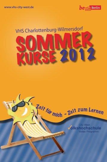 Sommerprogramm 2012 - Volkshochschule City West