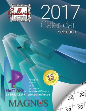 Print Fast 2017 Wall Calendar Catalogue
