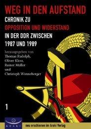 Weg in den Aufstand - Verlagsmeldung