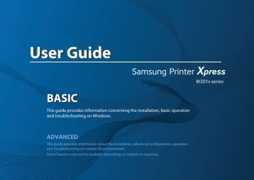 Samsung Printer Xpress M3015DW - SL-M3015DW/XAA - User Manual (ENGLISH)