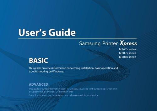 Samsung xpress m2825nd manual.