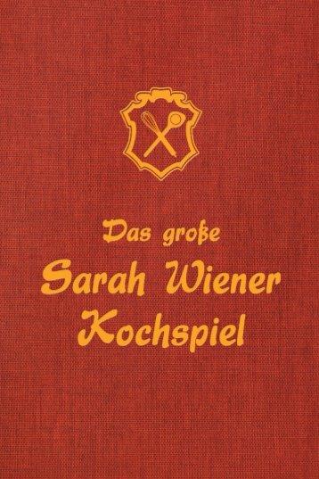 Das Booklet zum Download - Das grosse Sarah Wiener Kochspiel