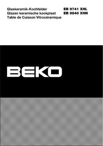 Glaskeramik-Kochfelder EB 9741 XHL Glazen keramische - Beko