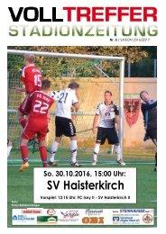 5. Ausgabe Stadionzeitung 2016/17
