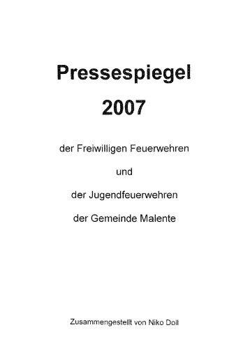 Jahrgang 2007 - Freiwilligen Feuerwehr Malente