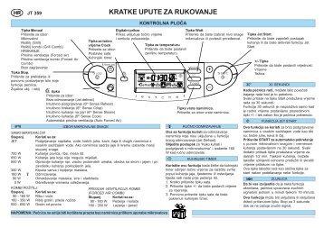 KitchenAid JT 359 alu - Microwave - JT 359 alu - Microwave HR (858735964640) Guide de consultation rapide