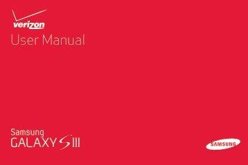 Samsung Galaxy S III 16GB (Verizon) - SCH-I535ZNBVZW - User Manual ver. LK1_F4 (ENGLISH(North America),7.21 MB)