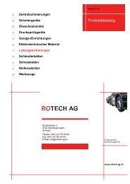Rotech AG Sortimentskatalog Ladungssicherungen - Rotech-ag.ch