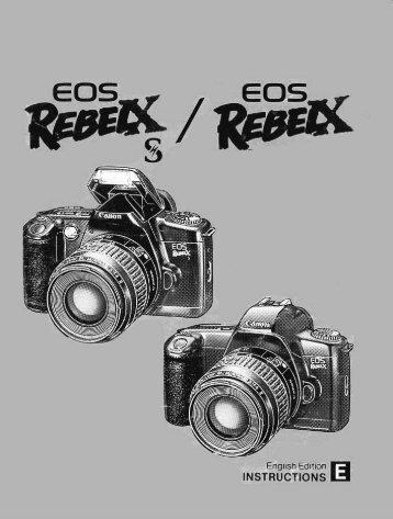 Canon EOS Rebel XS - EOS Rebel XS Instruction Manual