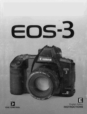Canon EOS-3 - EOS-3 Instructions Manual