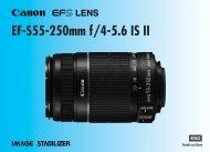 Canon EF-S 55-250mm f/4-5.6 IS - EF-S 55-250mm f/4-5.6 IS II Instruction Manual