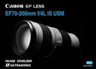 Canon EF 70-200mm f/4L IS USM - EF 70-200mm f/4L IS USM Instruction Manual