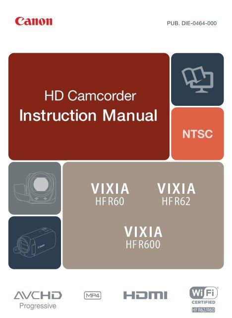 Canon VIXIA HF R60 User Manual - Page 1 of 306 ...