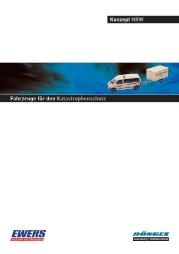 Konzept NRW Fahrzeuge für den Katastrophenschutz