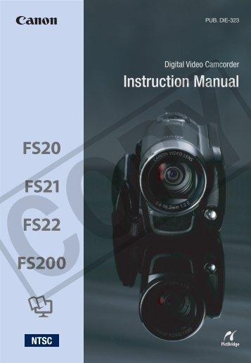 Canon FS22 - FS22 Instruction Manual
