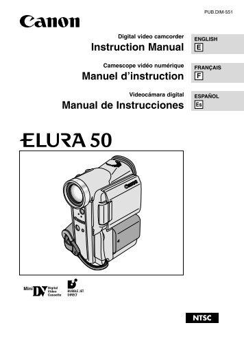 Canon Elura 40MC Instruction Manual