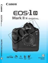 Canon EOS-1D Mark II N - EOS 1-D Mark II N Instruction Manual