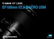Canon EF 100mm f/2.8 Macro USM - EF 100mm f/2.8 Macro USM Instruction Manual