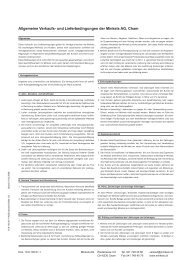 Allgemeine Verkaufs- und Lieferbedingungen der Minkels AG, Cham