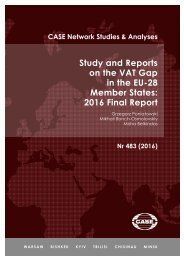 Study and Reports on the VAT Gap in the EU-28 Member States 2016 Final Report