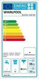 KitchenAid NEVADA 1600 WP - Washing machine - NEVADA 1600 WP - Washing machine   (859200420000) Etiquette énergie