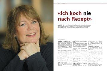 «Ich koch nie nach Rezept» - Ingeborg Pils