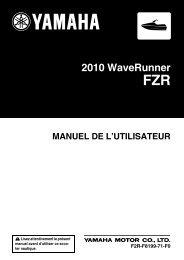 Yamaha FZR - 2010 - Manuale d'Istruzioni Français