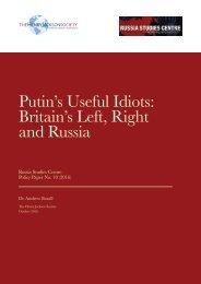 Putin's Useful Idiots Britain's Left Right and Russia