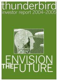 investor report 2004–2005 investor report 2004–2005