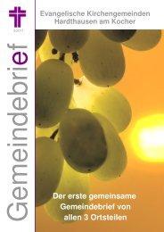 Gemeindebrief Herbst 2011 - Evangelische Kirchengemeinde ...