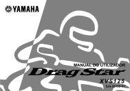 Yamaha XVS125 - 2001 - Manuale d'Istruzioni Português