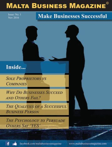 Malta Business Magazine - Issue 01
