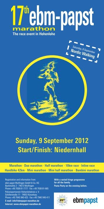 Sunday, 9 September 2012 Start/Finish: Niedernhall