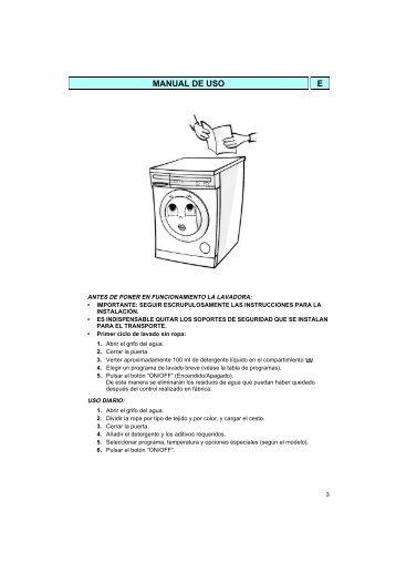 KitchenAid AWM 466/3 - Washing machine - AWM 466/3 - Washing machine ES (857046641000) Istruzioni per l'Uso