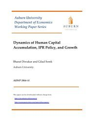 Dynamics of Human Capital Accumulation IPR Policy and Growth