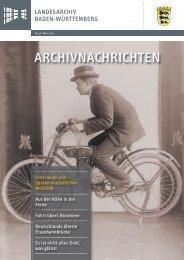 Archivnachrichten Nr. 40 , März 2010 - Landesarchiv Baden ...