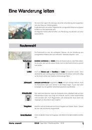 Eine Wanderung leiten anderung leiten - Jungwacht Blauring Schweiz
