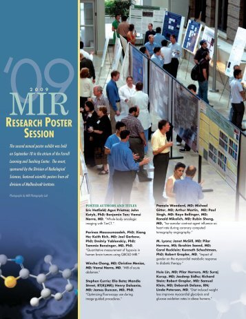 MIRRESEARCH POSTER SESSION - Mallinckrodt Institute of ...