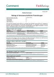 Ratings of Genossenschaftliche FinanzGruppe - DG Hyp