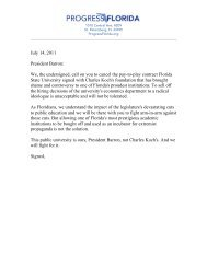 July 14, 2011 President Barron: We, the undersigned, call on you to ...