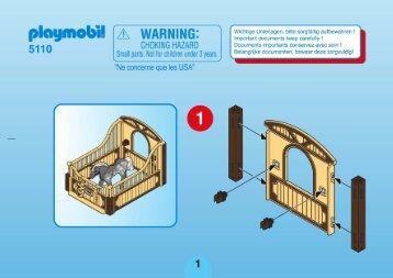 Playmobil 5110 - Instruzioni di Montaggio Playmobil 5110