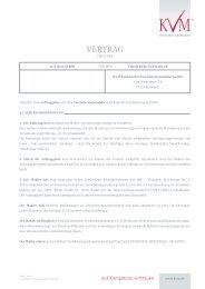 VERTRAG - KVM Kulmbacher Versicherungsmakler GmbH