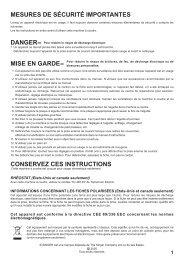 Singer 7463 - English, French, Spanish - User Manual